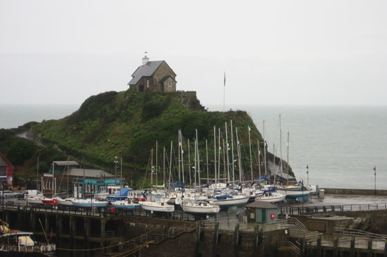 Boats lifted out of the harbour on to Ilfracombe quay